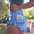 Summer Sexy High Waist Denim Shorts Jeans Women Plus Size Hot Rivet Shorts