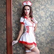 Sexy Cosplay Performance chemise de nuit uniforme tentation infirmière costume femme Lingerie