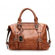 Double boucle rétro Decor Soft Portable Boston Bag Sac à main féminin élégant Sac à bandoulière robuste