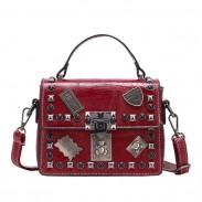 Loisirs Badge Rivet Messenger Bag Petit sac à bandoulière pour femme