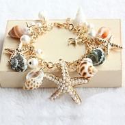 Conque Étoile de mer Été Plage Bracelet