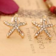 Boucles d'oreilles doux mignon Starfish