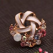 Fleur de cristal coloré Boucle d'oreille Studs