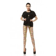 Cute Lucky Cat Printed Leggings