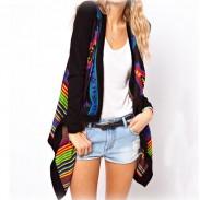 Unique Ethnic Geometric knit &Cardigan
