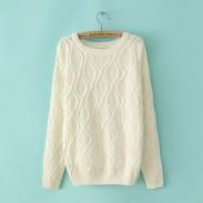 British Style Vintage Twist Sleeve Sweater &Cardigan