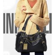 Madame vintage Moyen Haut Rivet Handle Bag & Sac d'épaule