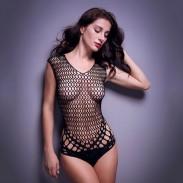 Lingerie intime sexy à mailles serrées en filet pour femmes