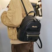 Loisirs Petit sac à dos noir Sac à dos en PU pour fille simple