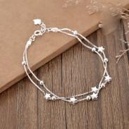 Doux Double Étoiles Couche Bracelet Copines Cadeau Bijoux Amant Présent Femmes Bracelet