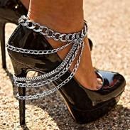Style de cheville accessoire de cheville de gland multicouche de chaussure d'alliage de chaussures de rue
