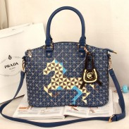 Tendance De Casual Plaid Poney Cartoon Etoiles Sac à bandoulière