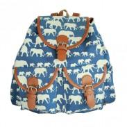 Mode l'éléphant Hishimonoides Imprimé animal à dos