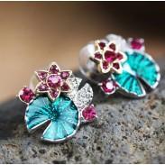 mode de feuilles et de fleurs de lotus multifonctionnel folk boucle & collier et bracelet