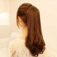 Super Natural Long Wavy Drawstring Ponytail Hair