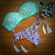 Floral Lace Fresh Printing Sexy Bikini