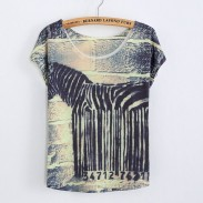 Funny Barcode Printed T-Shirt