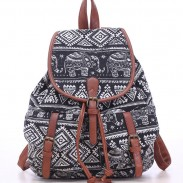 Sac à dos d'école d'éléphant de loisirs pour le sac à dos d'université de sac de toile de Totem de fille