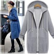 Nouveau Manteau à capuche en tricot à manches longues