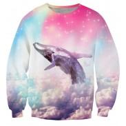 New Unique 3D Star Dolphin Printing Sweatshirts