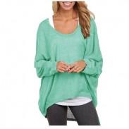 Pull en tricot creux décontracté oversize à manches longues