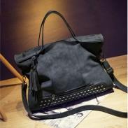 Vintage cuir rivets sac à bandoulière messager sac à main sac de moto