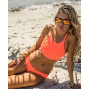 Orange Swimsuit Sexy Bikini Halter Bathing Suit Hot Swimwear