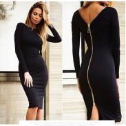 Fashion Sexy Slim Halter Zipper Dress