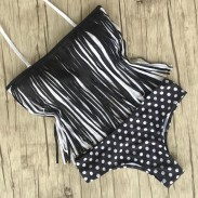 Tassel And Dot Swimsuit Sexy Bikini Bathing Suit Swimwear