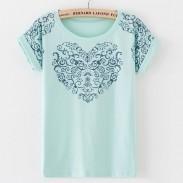 T-shirt en coton à imprimé fleuri Vintage Palace