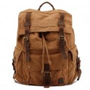 Vintage grand sac à dos de randonnée randonnée sac à dos en toile épaisse cartable sac à dos