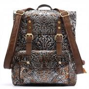 Boucle double rétro originale Étudiant sac à dos gaufrage Totem Sac à dos scolaire
