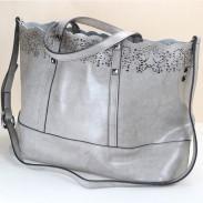 Mode évider sculpté main en cuir Grand sac