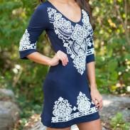 Jupe ample de style national à manches courtes et à imprimé paisley pour femme