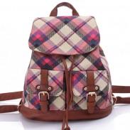 Loisirs britannique matelassé femmes sac à dos treillis voyage toile sac à dos collège