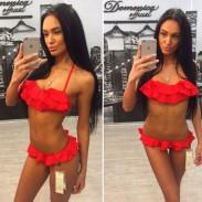 Maillot de bain multicolore à volants Sexy Bikini pour femme neuve