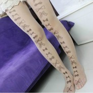 Invisible Ttatoo Bow-knot Super Thin Silk Stockings