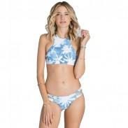 Maillot de bain fendu imprimé bikini en noix de coco unie