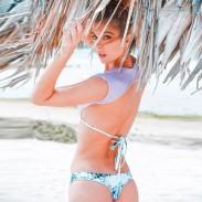 Maillot de bain violet dégradé sexy dégradé maillot de bain bikini