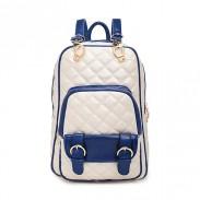 Anglais Style Géométrique Imprimé Cuir Sac à dos et sac école