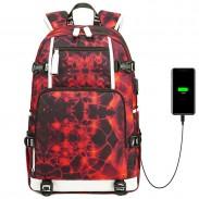 Nouveau sac à dos pour ados d'ordinateur de grande capacité d'impression de feu d'eau imperméable pour le sac à dos des étudiants du collège