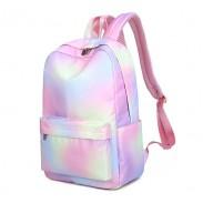 Frais arc-en-ciel dégradé de couleur résistant à l'eau grande taille sac pour ordinateur portable sac à dos étudiant sac d'école junior sac à dos