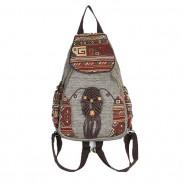 Style folklorique Tissage Totem Toile Voyage Sac à dos fille