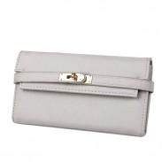 Modèle de litchi de mode dames Pochette Porte-monnaie multi-cartes Long portefeuille