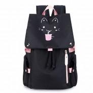 Dessin animé frais Fluorescence chat boisson grande capacité ordinateur sac à dos fleur étanche école sac à dos