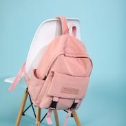Sac d'école portable doux Sac à dos pour ordinateur portable de sport Sac à dos pour fille pour ordinateur portable à double boucle rose