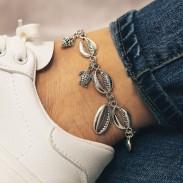Plage d'accessoires Creative Foot Métal coquille Étoile de mer Bracelet de cheville Conch