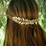 Feuilles uniques en alliage pince à cheveux feuille peigne à cheveux accessoires pour cheveux