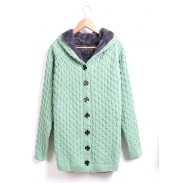 New Sweet Nice Plus Velvet  Hooded Sweater &Cardigan