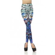 Fashion Glass Parrot Printed Leggings